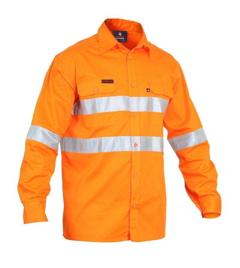 work cool, lightweight, orange, hi-vis, reflective