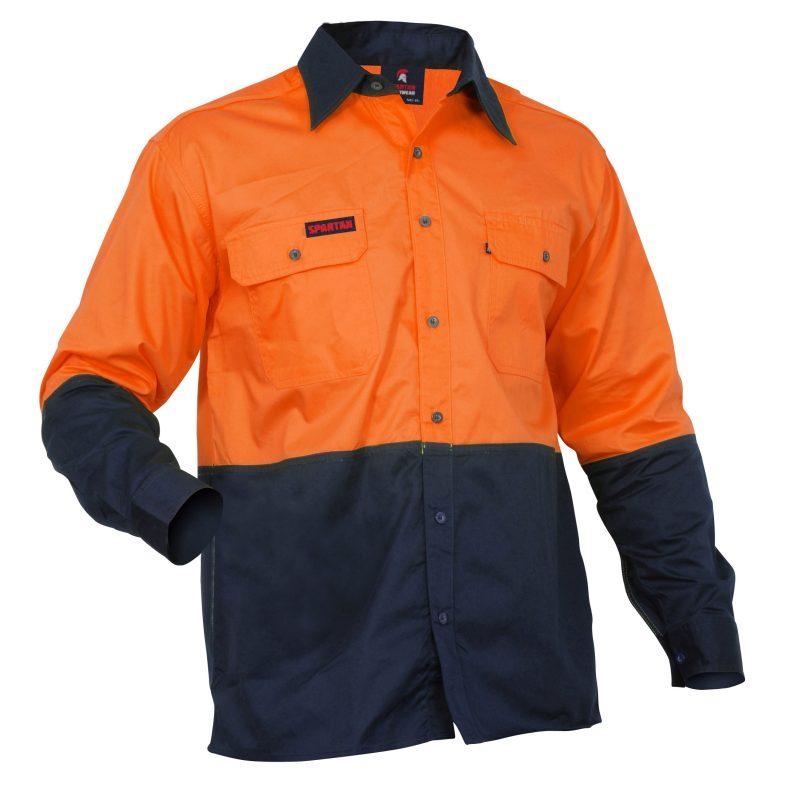 work cool, orange navy