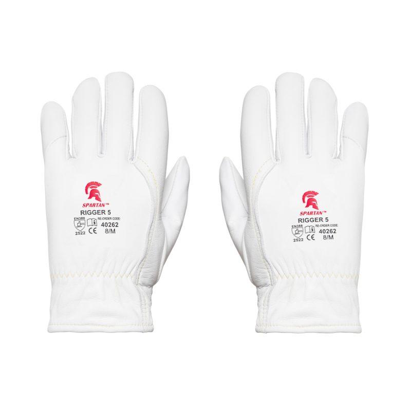 White Cut Resistant Rigger Glove - Back