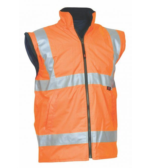 Hi Vis Orange Waterproof Reflective Safety Vest