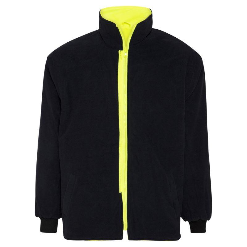 5 in 1 Yellow Navy Waterproof Taped Hi Vis Jacket - Jumper