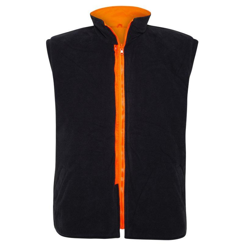 5 in 1 Orange Navy Waterproof Taped Hi Vis Jacket - Vest