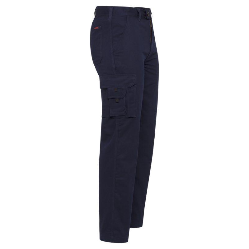 Navy Cotton Drill Lightweight Cargo Pants - side
