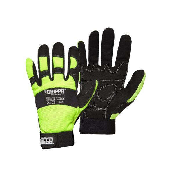 Grippa Hi Vis Anti Vibe Mechanics Gloves