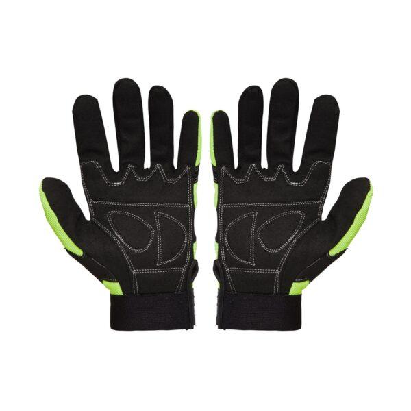 Hi Vis Anti Vibration Mechanics Gloves front