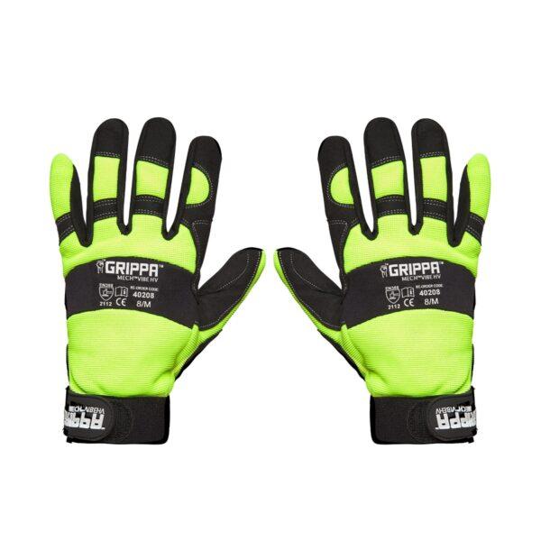 Hi Vis Anti Vibration Mechanics Gloves rear