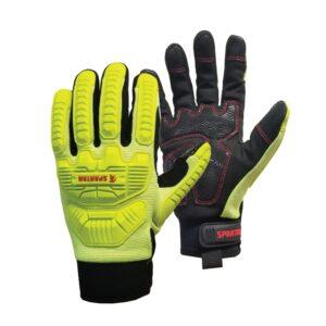 Hi Vis Yellow Cut 5 Anti Vibration Mechanics Gloves