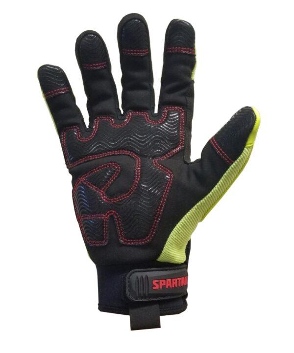 Spartan Hi Vis Cut 5 Anti Vibration Mechanics Glove