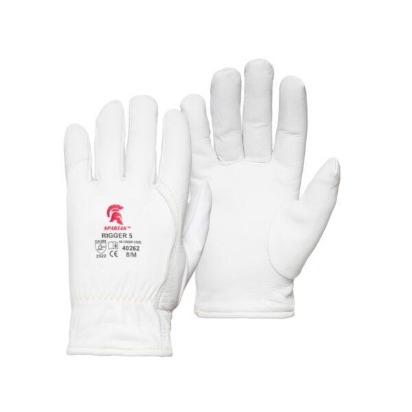 Spartan Rigger 5 White Cut Resistant Rigger Gloves
