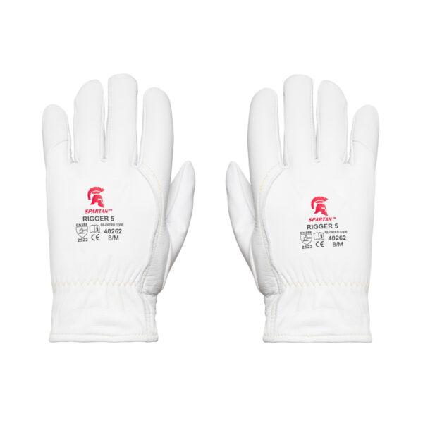 White Grippa Sabre 5 Cut Resistant Rigger Gloves rear