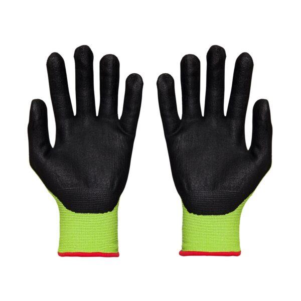 Grippa MFN Flex Nitrile Grip Gloves in Black and Hi Vis Yellow - palms