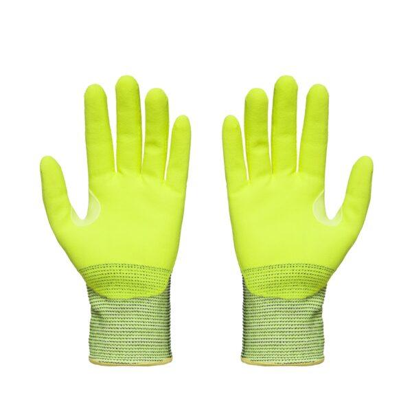 Hi Vis Yellow Grippa TCT Lightweight Cut Resistant Gloves