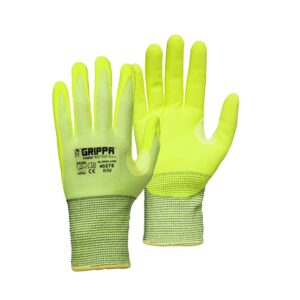 Grippa Sabre TCT Hi Vis Yellow Lightweight Cut 5 Cut Resistant Gloves