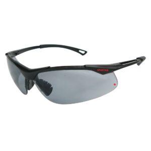 Warrior Safety Glasses with dark lenses and black frames
