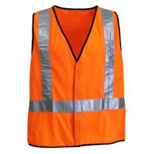 Hi Vis Orange Safety Vest with Reflective Tape