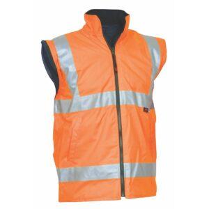 Hi Vis Orange Waterproof Safety Vest with Reflective Tape