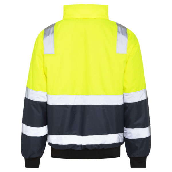 Hi Vis Yellow Waterproof Bomber Jacket with Reflective Tape