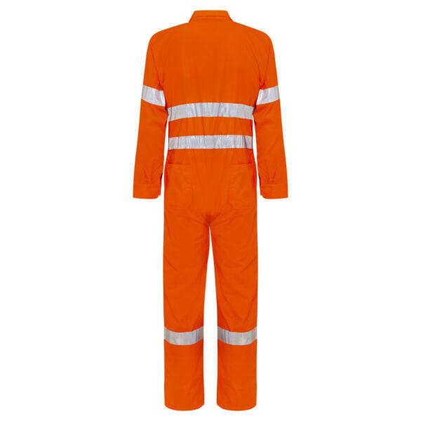 Hi Vis Orange Cotton Drill Reflective Taped Overalls