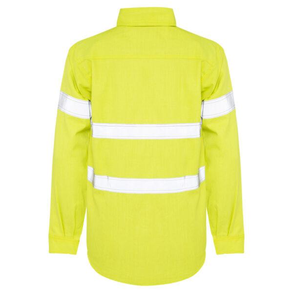 Hi Vis Yellow Arc Flash HRC2 Lighweight Shirt