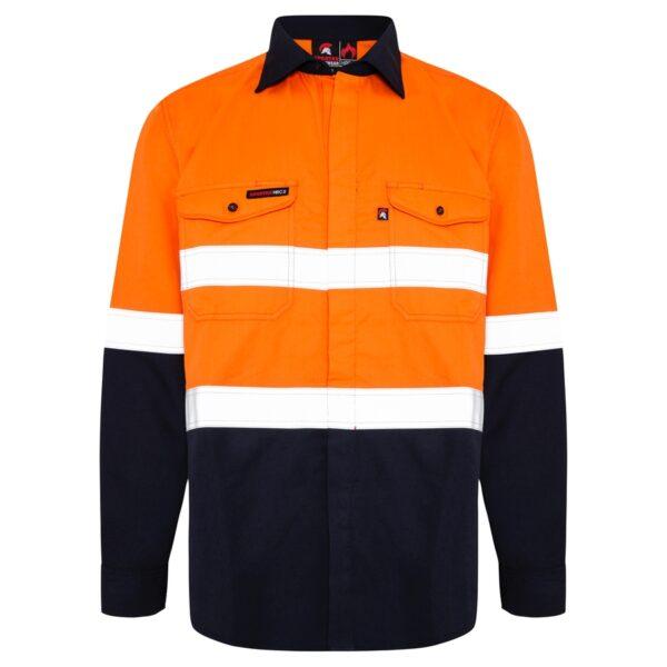 Hi Vis Orange Navy HRC2 Lighweight Shirt