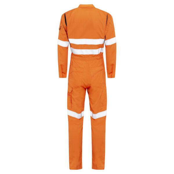 Hi Vis Orange Lightweight HRC2 Arc Flash Coveralls with reflective tape