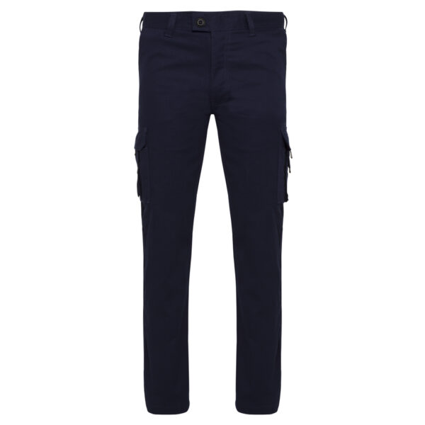 Navy Cotton Drill Light weight Cargo Work Pants - front view