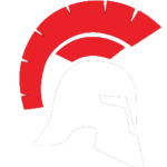 Spartan Logo - Red and White Spartan Helmet
